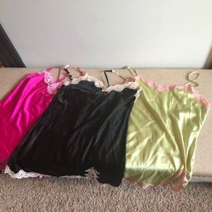 Lot of 3 Victoria's Secret silky nightgowns